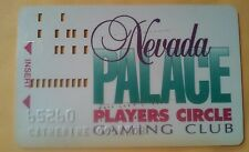 NEVADA PALACE CASINO LAS VEGAS, NV SILVER CIRCLE SLOT CARD GREAT FOR COLLECTION!