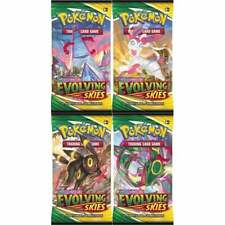 More details for pokemon evolving skies 4 x booster packs artset i sword & shield i new & sealed