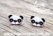 Panda Stud Earrings -Handmade -Jewellery Bear I Love Pandas Studs Earring Unique