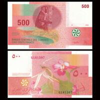 Comoros 500 Francs, P-15, 2006, Banknotes, AUNC, some folds