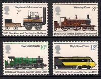 GB 1975 sg984-987 150th Anniv Of Public Railways set MNH Trains Locomotives