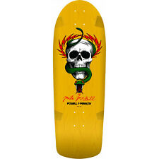 "Powell Peralta Re-Issue Skateboard Deck OG McGill Skull Snake Yellow 10"" x 30.1"