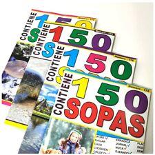 2 x Libros de entretenimiento 150 SOPAS DE LETRAS 98 páginas