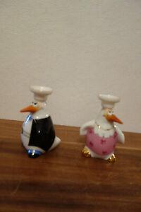 Kerzenständer Kerzenhalter Leuchter Goebel Adam Ziege Pinguin Hochzeit Brautpaar