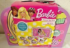 new BARBIE DOLL TOY LOT EASTER BASKET TOYS TIN TEA PLAY SET BIRTHDAY GIFT