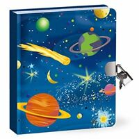 Lock  Key Diary Glow in The Dark Space Journal
