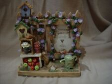 PICTURE / PHOTO FRAME - HAND PAINTED COUNTRY GARDEN - HOLDS 2x3 PHOTO