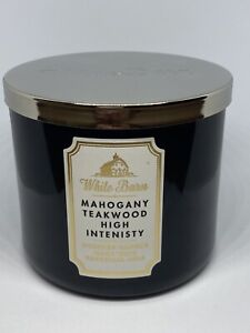 NEW Bath & Body Works ~ MAHOGANY TEAKWOOD HIGH INTENSITY ~ 3 Wick Candle