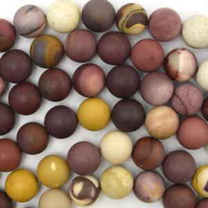 "Natural Matte Mookaite Round Beads 15"" Strand Mookite 4mm 6mm 8mm 10mm 12mm"