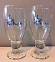 SET OF 2 CAP ESPOIR, QUEBEC, CANADA BEER BIERE GLASSES - D'ESPOIR
