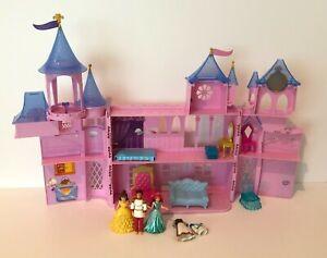 Disney Princess Magic Clip Royal Castle Polly Pocket Playset Dolls Mattel 2011