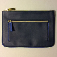 Estee Lauder Faux Leather Cosmetic Makeup Bag in Dark Blue