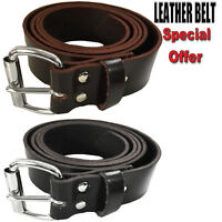 Mens 100% Genuine Leather Belts Buckle Belt Stylish Jeans Trouser Big Plus Sizes