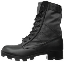 """Black Jungle Boots 8"""" Military Tactical Army Type Vietnam Panama Rubber Sole"""