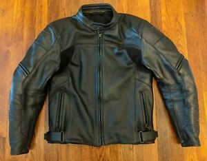 Dainese Full Leather CE Armored Motorcycle Jacket Black - Euro 50