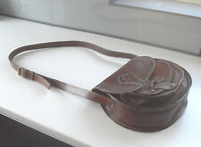 Vintage River Island 100% cuir selle main à travers corps sac bandoulière excellent