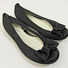Nordstrom Carissa Fab Ballet Flats Little Girls Shoes Size 13M Black Bow