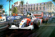 "Nicholas Watts print - ""Master Of Monaco"" - Ayrton Senna  McLaren 1993 Monaco GP"