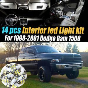 14Pc Super White Interior LED Light Bulb Kit Pack for 1998-2001 Dodge Ram 1500