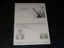 DOCUMENT OFFICIEL - UNESCO - 1986 -  Y & T N° 91 - 92