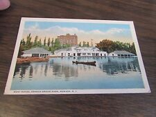 VINTAGE - BOAT HOUSE, BRANCH BROOK PARK - NEWARK  N.J. - POSTCARD