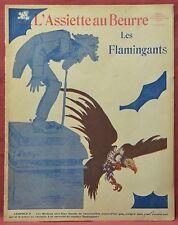 Assiette au Beurre N˚533  17 Juin 1911  Les Flamingants par d'Ostoya