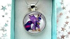 MY LITTLE PONY TWILIGHT SPARKLE STRONG CHAIN SILVER  2 TO 4 YEARS GIFT BOX PARTY