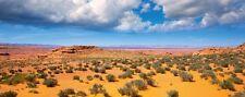 Wallario Poster in 50 x 125 cm - Wüste Arizona - blauer Himmel Wolken I Fels