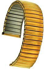 Flex-uhrband, gorros de acero inoxidable oro IP ancho de alma 20 mm uhrband stretchband