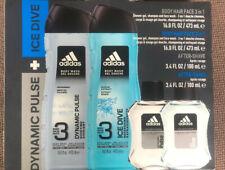 New Adidas Dynamic Pulse & Ice Dive Men's Fragrance Boxed Gift Set 4 set