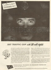 VTG Air Traffic Control SKY COP Eyes NAVAR Radar IT&T Telephone Electronics Ad