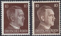 Stamp Germany Mi 787 826 Sc 511A 512 WW2 Fascism War Hitler BOTH TYPES MNH