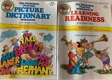 Preschool Vtg 1988 Workbooks Learning Readiness Picture Dictionary Set Of 2 (b)