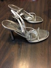 TORTA CALIENTE Silver Strappy Heels Sandals, Size 9 M