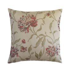 Satin Red/Gray Chrysanthemum/Mum Flower Decorative Pillow Case/Cushion Cover