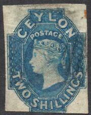Ceylon Two Shillings stamp, 2/-  Queen Victoria 1857  SG No.12.  Star watermark
