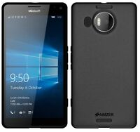 AMZER Exclusive Pudding Matte TPU Case Cover For Microsoft Lumia 950 XL - Black