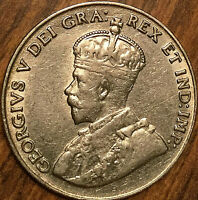1929 CANADA 5 CENTS GEORGE V COIN - Good example!