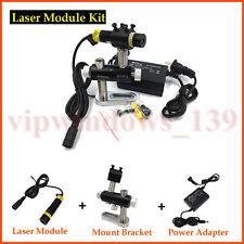 100mW 5V Laser Head 648nm Red Line Spot Laser Module +AC/DC Power Supply+Bracket