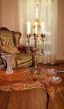 VTG ITALIAN TOLE ITALY STEEL TABLE FLOOR LAMP CANDELABRA CHANDELIER FIXTURE 50's