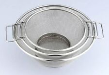 3 Pieces Stainless Steel Strainer Set, 7,8,10 Inches, Silver