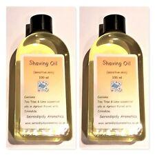 2 x Shaving Oil for Men with Calendula 100 ml, Nourishing, Sensitive Skin