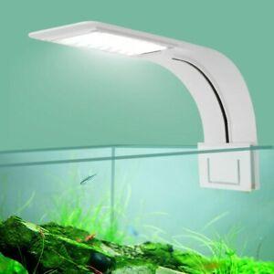 Super Slim Aquarium Light Waterproof Clip On Lamp For Fish Tank New 5W 10W 15W