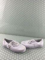 VANS Lo Pro All White Canvas Lace Up Low Top Skate Shoes Men Size 7.5  Women's 9