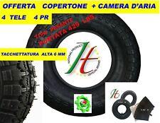 COPERTONE per  RUOTA PER CARRIOLA  3.50 - 8  MODELLO VESPA  +  CAMERA D' ARIA