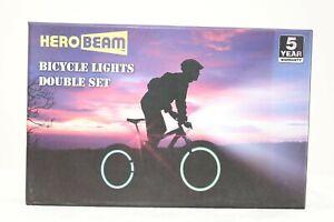 HERO BEAM BICYCLE LIGHTS DOUBLE SET