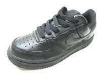 Nike Force One 1 PS 308936/314193 Boys Shoes Sneakers Leather Low Black Size 1.5