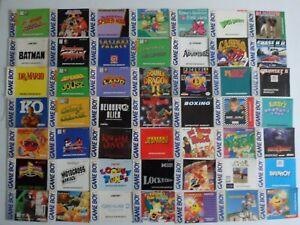 Choose: Nintendo Game Boy Instruction Manuals, 100% Original, Pick from List