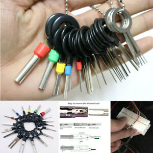 26Pcs Motorcycle Scooter Wire Connector Terminal Removal Pin Extractor Tools Kit