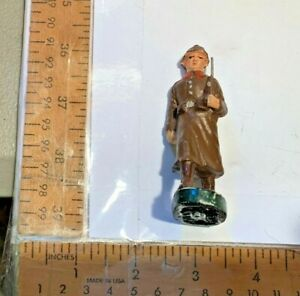 Composition Vintage Toy Soldier Lot Made in Belgium w Bugle Mark on Bottom Nice